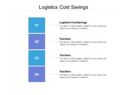 Logistics Cost Savings Ppt Powerpoint Presentation Portfolio Infographics Cpb