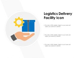 Logistics Delivery Facility Icon