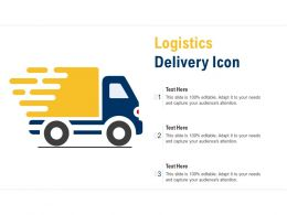 Logistics Delivery Icon