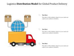 Logistics Distribution Model For Global Product Delivery