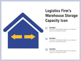 Logistics Firms Warehouse Storage Capacity Icon