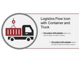 Logistics Flow Icon With Container And Truck