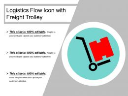 Logistics Flow Icon With Freight Trolley