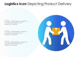Logistics Icon Depicting Product Delivery