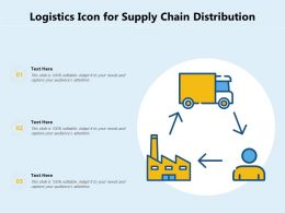Logistics Icon For Supply Chain Distribution
