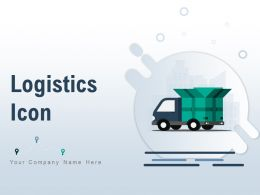Logistics Icon Global Delivery Through Guaranteed Survey