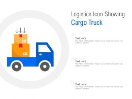 Logistics Icon Showing Cargo Truck