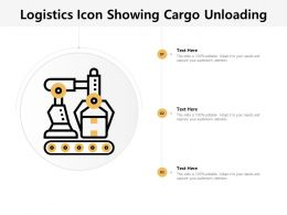 Logistics Icon Showing Cargo Unloading