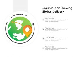 Logistics Icon Showing Global Delivery