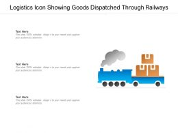 Logistics Icon Showing Goods Dispatched Through Railways