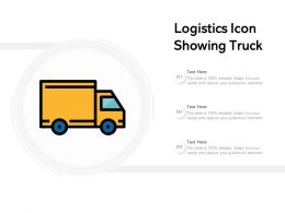 Logistics Icon Showing Truck