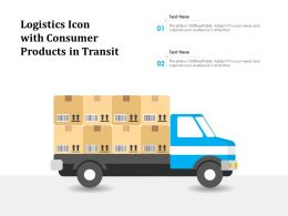 Logistics Icon With Consumer Products In Transit