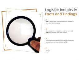 Logistics Industry In Facts And Findings
