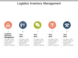 Logistics Inventory Management Ppt Powerpoint Presentation File Design Inspiration Cpb