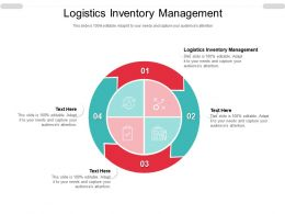 Logistics Inventory Management Ppt Powerpoint Presentation Icon Introduction Cpb
