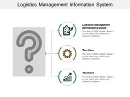 Logistics Management Information System Ppt Powerpoint Presentation Pictures Styles Cpb