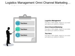 Logistics Management Omni Channel Marketing Network Risk Management Cpb