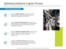 Logistics Management Optimization Optimizing Outbound Logistic Process Ppt Powerpoint Ideas