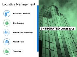 Logistics Management Ppt File Samples