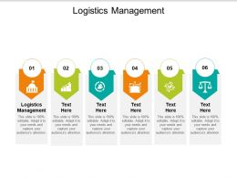 Logistics Management Ppt Powerpoint Presentation Outline Gallery Cpb