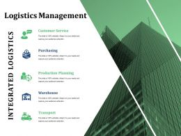 Logistics Management Ppt Samples Download