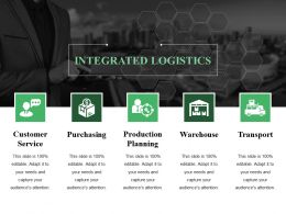 Logistics Management Ppt Summary Design Ideas