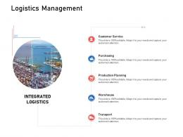 Logistics Management Supply Chain Logistics Ppt Designs
