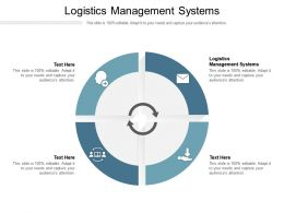 Logistics Management Systems Ppt Powerpoint Presentation File Themes Cpb