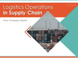Logistics Operations In Supply Chain Powerpoint Presentation Slides