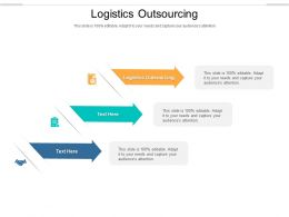 Logistics Outsourcing Ppt Powerpoint Presentation Icon Guidelines Cpb