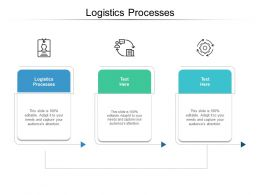 Logistics Processes Ppt Powerpoint Presentation Styles Design Templates Cpb