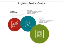 Logistics Service Quality Ppt Powerpoint Presentation Inspiration Slideshow Cpb