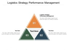 Logistics Strategy Performance Management Ppt Powerpoint Presentation Guide Cpb
