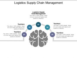 Logistics Supply Chain Management Ppt Powerpoint Presentation File Slide Cpb
