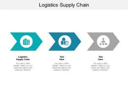 Logistics Supply Chain Ppt Powerpoint Presentation Gallery Inspiration Cpb