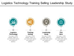 Logistics Technology Training Selling Leadership Study Knowledge Collaboration Cpb