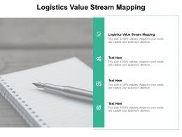 Logistics Value Stream Mapping Ppt Powerpoint Presentation Show Cpb