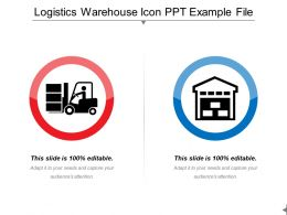Logistics Warehouse Icon Ppt Example File