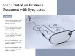 Logo Printed On Business Document With Eyeglasses