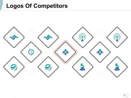 Logos Of Competitors Ppt Visual Aids Icon