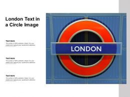London Text In A Circle Image