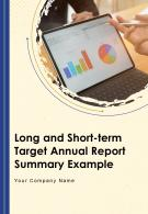 Long And Short Term Target Annual Report Summary Example PDF DOC PPT Document Report Template