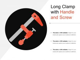 Long Clamp With Handle And Screw