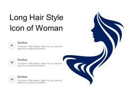Long Hair Style Icon Of Woman