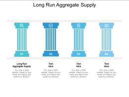 Long Run Aggregate Supply Ppt Powerpoint Presentation Slides Template Cpb