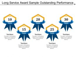 Long Service Award Sample Outstanding Performance