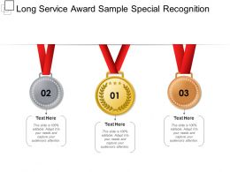 Long Service Award Sample Special Recognition