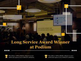 Long Service Award Winner At Podium