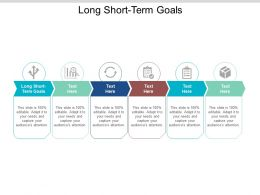 Long Short Term Goals Ppt Powerpoint Presentation Styles Objects Cpb