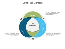 Long Tail Content Ppt Powerpoint Presentation Summary Good Cpb